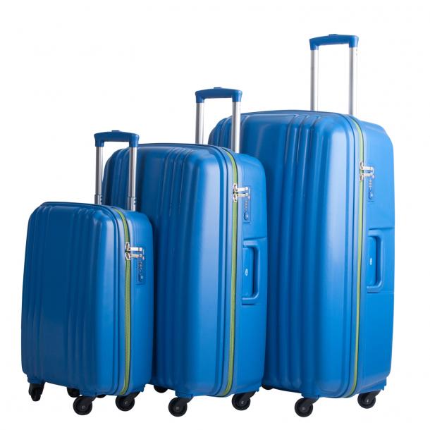 Bon Gout model BERGEN ULTRA 4 hjul spinner BLUE / GREEN Kuffertsæt