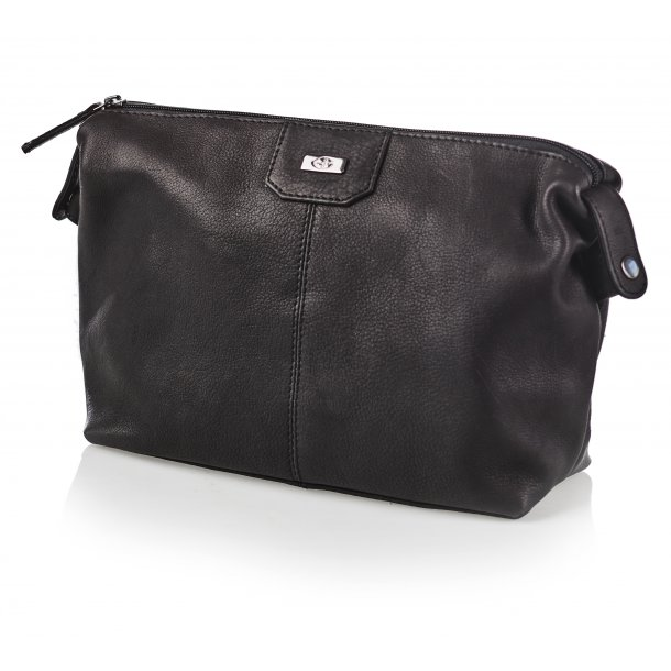 Bon Gout Columbia Sort Toilet taske I eksklusivt læder