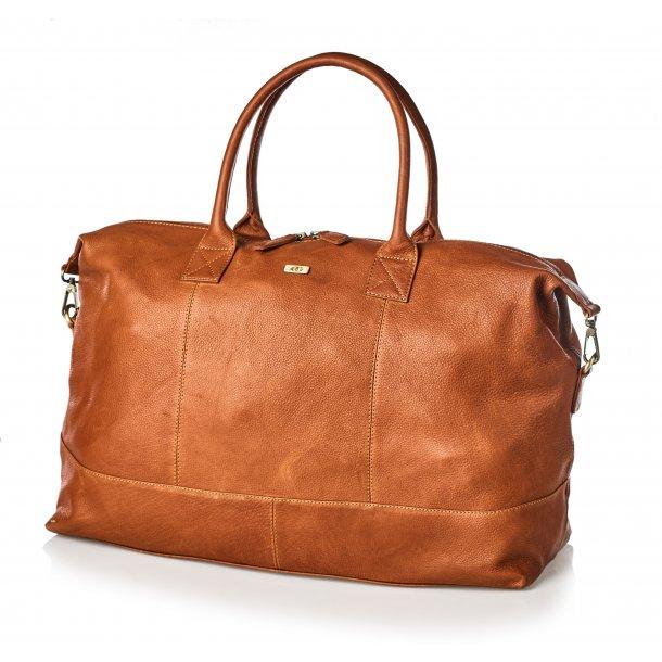 Bon Gout Columbia rejsetaske i eksklusivt læder Cognac