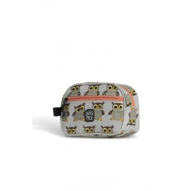 Pick og Pack toilet taske grå ugle