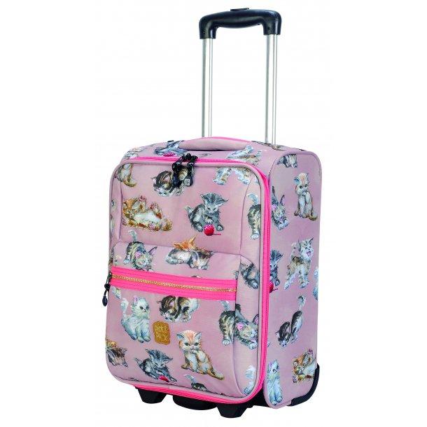Pick & Pack børne kuffert Kittens Dusty Pink