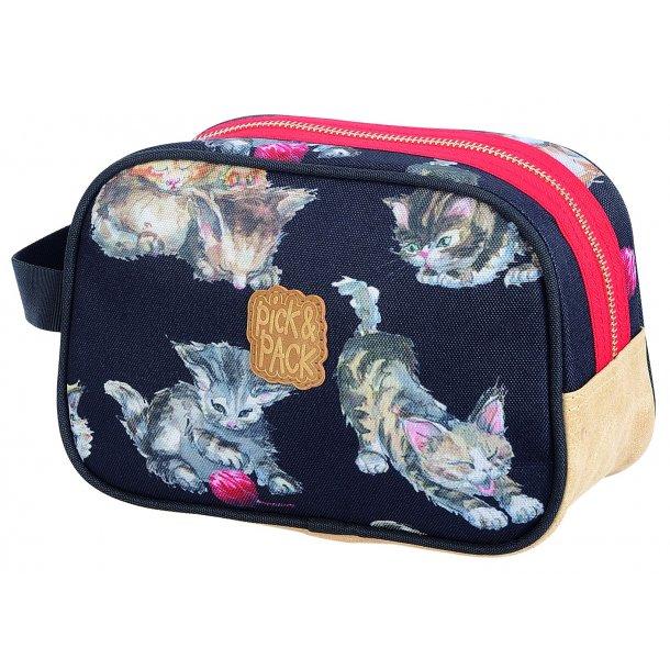 Pick og Pack toilet taske Kat