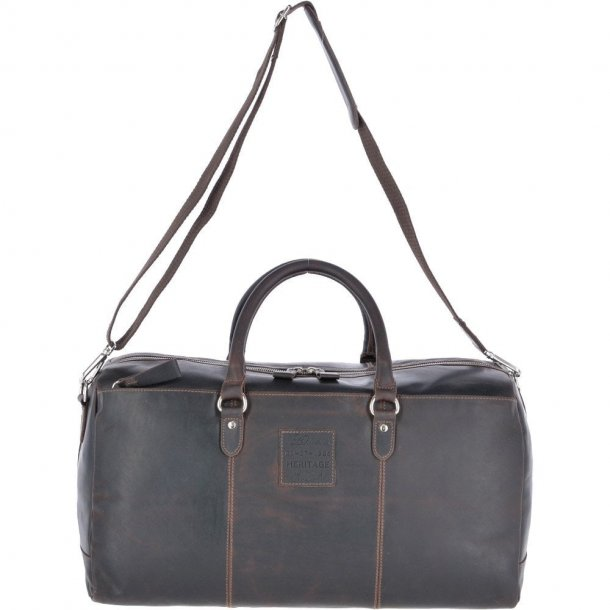 AshWood Large Leather Oily Hunter Holdall Brown