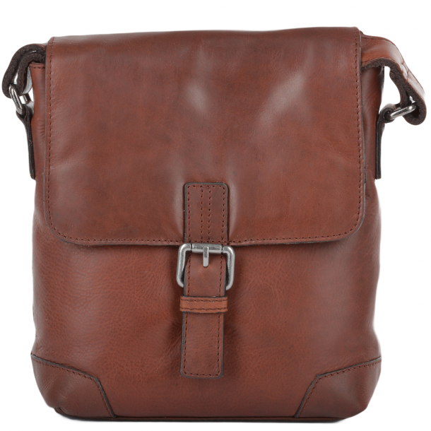 ASHWOOD 3 Pocket Luxury Small Leather Flight Bag- Jack - Tan