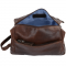 ASHWOOD Leather Wash Bag / Toilet Bag Brown