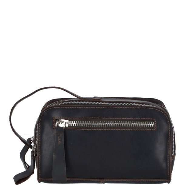 ASHWOOD Oily Hunter Leather Toilet Bag Brown