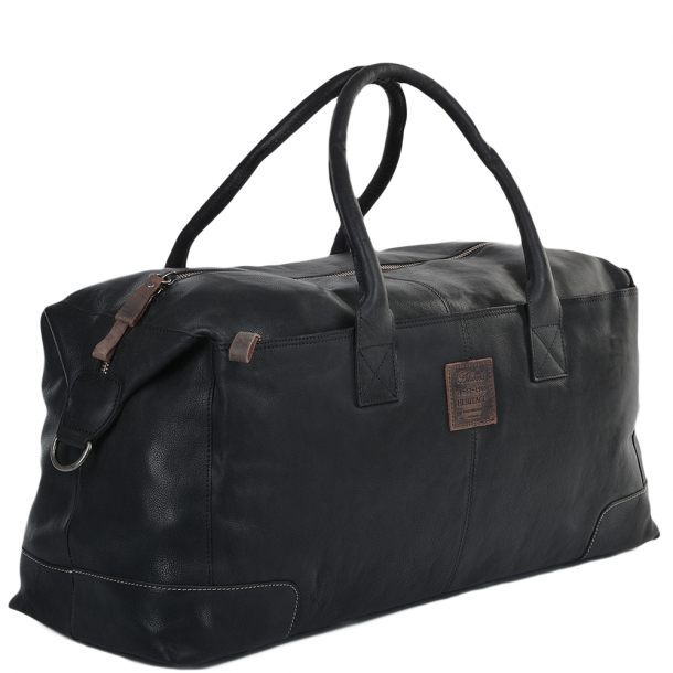 ASHWOOD X-Large Leather Holdall Black