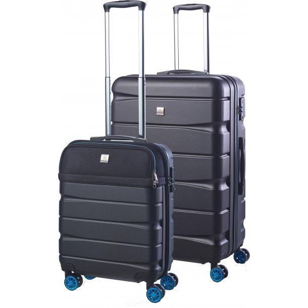 Bon Gout Tokyo Sort/Blå Kuffertsæt