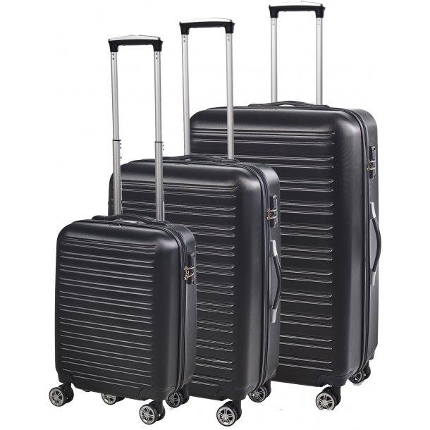 BonGout COLUMBIA series 77 BLACK kuffertsæt